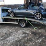 Scrap Car drop off with crane